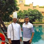 With Executive Chef G Sreenivasan
