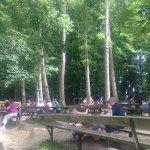 Kleiner Teil des großen Waldbiergartens