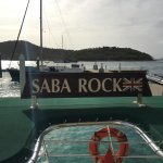 Saba Rock View of Prickly Pear Island