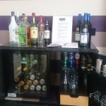 honesty bar with a good selection of drinks