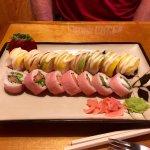 Naked Tchopstix Mango Tango and Naked Philly sushi rolls