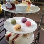 Afternoon tea £16. What it looked like and what it should have looked like!!!