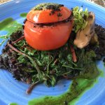 Tomato filled with black rice