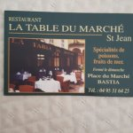 Photo de Table du marche