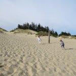 Kids loved playing in this life size sandbox!