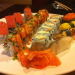 Various selection of Sushi and Sushi rolls