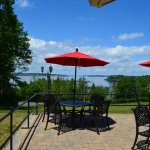 A view from the outdoor patio