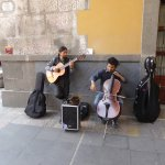 Music outside the hotel