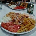 Chicken gyros platter