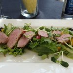 Fruity smoked duck breast salad