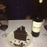Excellent steak dinner, great wine selection & yummy birthday cake for my husband.