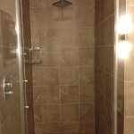 Extra large shower with wall jets and rain shower head