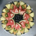 Fresh fruit trays.
