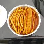 hot dog spécial moliere et frites