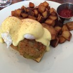 Fried Green Tomatoes Benedict and Creole Fries