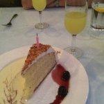 Homemade birthday cake the fresh cream & berries & Limoncello