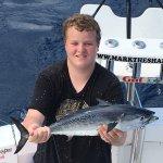 Bonita caught on July 3, 2016 ....used as shark bait! Caught with Mark the Shark!