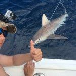 7' ~250lb sandbar shark caught on July 8, 2016 with Mark the Shark