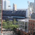 View from our room of Petco Park