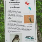 Signs everywhere in the bird sanctuary