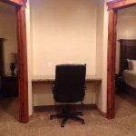 Beautiful 3 bedroom suite. Granite counter tops. Lower floor ADA,upstairs two bedrooms. Very nic
