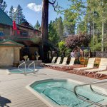 Two year-round outdoor lakeview spas