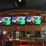 Watching EURO soccer at Boston Pizza