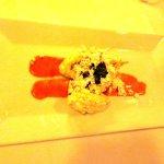 Zucchini flower appetizer