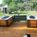 new tubs on the deck
