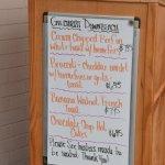 Gilchrist's Restaurant: Specials