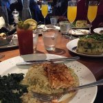 I had the salmon with rice and sautéed spinach.