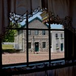 "Twain's home, as seen from inside ""Becky Thatcher's"" house. They are very close."