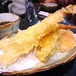 Shrimp tempura and vegetable tempura