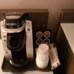 in room coffee maker.
