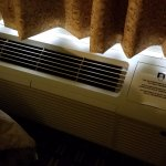 Our air conditioner. The room was 88 at 1 am and finally around 68 by 9 am. Too Hot!