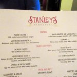 Stanley's Steakhouse Menu, Jackson, CA