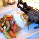 Lamb with Garlic Mashed and Vegetables, Stanley's Steakhouse, Jackson, Ca