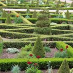 The magnificent gardens at Hanbury Hall