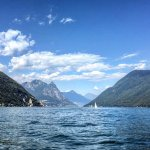 Views while boating on Lake Lugano