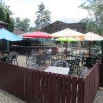 Tin Pan Alley - patio with umbrellas open
