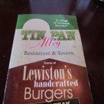 Tin Pan Alley - menu