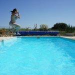 momentopname boven het heerlijke  zwembad