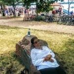 Relaxing near the lake