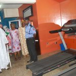 Olubadan inspecting the Fitness Centre