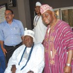 Olubadan of Ibadanland, Chairman Kakanfo Inn and Conference Centre Dr Lalekan Are with guests at