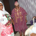 Olubadan and his Olori's with Kakanfo Inn and Conference Centre Chairman