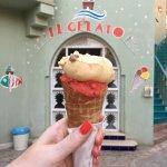 Very tasty ice-cream from Il Gelato at El Gouna Marina - strawberry and malaga (with alcohol).