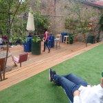 Swanky terrace