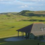 Old clubhouse and links at Cruden Bay