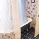 Jacques Cartier claw foot tub with overhead shower